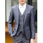 best Laconic Lapel Special Breast Pocket Single-Breasted Slim Fit Long Sleeves Men's Blazer Three-Piece Suits(Blazer+Vest+Pants)