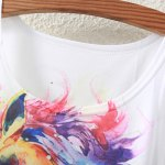Cute Colorful Horse Head Pattern Tank Top For Women deal