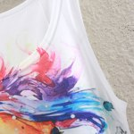 Cute Colorful Horse Head Pattern Tank Top For Women for sale