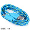 cheap Fabric Braided Data Charging Cable 1 Meter