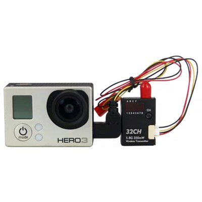 BOSCAM BOS350 5.8G 350mW 32CH Wireless Remote Control Transmitter for Gopro 3 3+ 4 HD19 Plus Camera