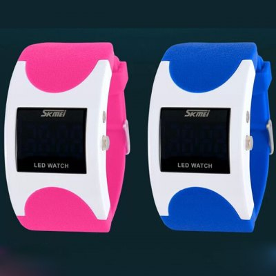 ФОТО Skmei 0951 Water Resistance LED Sports Watch with Rubber Strap