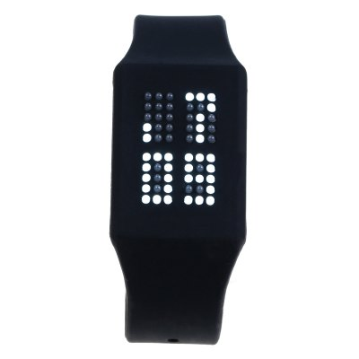 Гаджет   T21408 LED Touch Wristwatch with Silicone Strap Date Display LED Watches