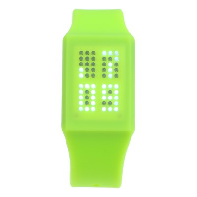 T21408 LED Touch Wristwatch with Silicone Strap Date DisplayLED Watches<br>T21408 LED Touch Wristwatch with Silicone Strap Date Display<br><br>People: Unisex table<br>Watch style: LED, Fashion&amp;Casual, Outdoor Sports<br>Available color: Plum, Black, White, Red, Green, Yellow<br>Shape of the dial: Rectangle<br>Movement type: Digital watch<br>Display type: LED lamp<br>Surface material: PC<br>Case material: PC<br>Band material: Silicone<br>Clasp type: Pin buckle<br>Special features: Date, Light, Month, Day<br>Water Resistance: Life water resistant<br>The dial thickness: 0.8 cm / 0.31 inches<br>The dial diameter: 3 cm / 1.18 inches<br>The band width: 2.1 cm / 0.83 inches<br>Product weight: 0.036 kg<br>Package weight: 0.086 kg<br>Product size (L x W x H) : 19.5 x 3 x 0.8 cm / 7.66 x 1.18 x 0.31 inches<br>Package size (L x W x H): 20.5 x 4 x 1.8 cm / 8.06 x 1.57 x 0.71 inches<br>Package contents: 1 x T21408 Watch