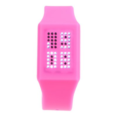 Гаджет   T21408 LED Touch Wristwatch with Silicone Strap Date Display