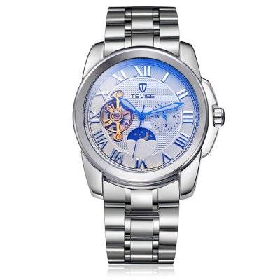 ФОТО Tevise Men Tourbillon Design Automatic Mechanical Watch with Alloy Strap