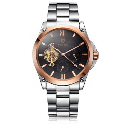 ФОТО Tevise Men Tourbillon Automatic Mechanical Watch with Alloy Band
