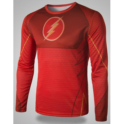 Trendy Round Neck 3D Superhero Flash Print Slimming Long Sleeve Quick-Dry T-Shirt For MenMens Long Sleeves Tees<br>Trendy Round Neck 3D Superhero Flash Print Slimming Long Sleeve Quick-Dry T-Shirt For Men<br><br>Material: Polyester<br>Sleeve Length: Full<br>Collar: Round Neck<br>Style: Fashion<br>Weight: 0.240KG<br>Package Contents: 1 x T-Shirt<br>Embellishment: 3D Print<br>Pattern Type: Print