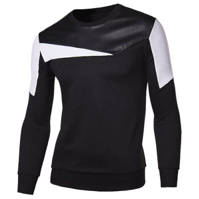 Modish Round Neck Color Block Fabric Splicing Slimming Long Sleeve Cotton Blend Sweatshirt For MenMens Long Sleeves Tees<br>Modish Round Neck Color Block Fabric Splicing Slimming Long Sleeve Cotton Blend Sweatshirt For Men<br><br>Material: Cotton Blends<br>Clothing Length: Regular<br>Sleeve Length: Full<br>Style: Fashion<br>Weight: 0.400KG<br>Package Contents: 1 x Sweatshirt