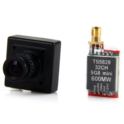 FPV Set TS5828 5.8GHz 32 Channel 600mW Transmitter + 600P CM211 HD Camera
