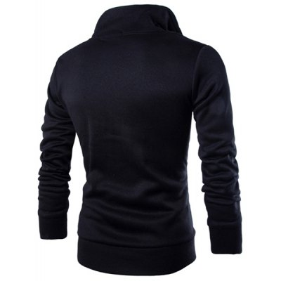 Double Stand Collar Multi-Zipper Inclined Front Fly Slimming Long Sleeves Mens Cool SweatshirtMens Hoodies &amp; Sweatshirts<br>Double Stand Collar Multi-Zipper Inclined Front Fly Slimming Long Sleeves Mens Cool Sweatshirt<br><br>Material: Cotton, Polyester<br>Clothing Length: Regular<br>Sleeve Length: Full<br>Style: Fashion<br>Weight: 0.460KG<br>Package Contents: 1 x Sweatshirt