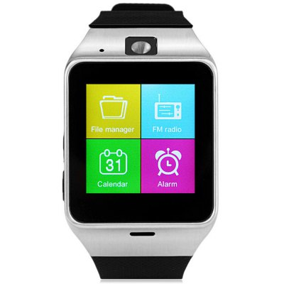 A18 Aplus Smart Watch PhoneSmart Watch Phone<br>A18 Aplus Smart Watch Phone<br><br>Type: Watch Phone<br>External memory: TF card up to 32GB (not included)<br>Wireless Connectivity: Bluetooth<br>Network type: GSM<br>Frequency: GSM850/900/1800/1900MHz<br>Bluetooth: Yes<br>Screen size: 1.54 inch<br>Camera type: Single camera<br>Front camera: 0.3MP<br>SIM Card Slot: Single SIM(Micro SIM slot)<br>TF Card Slot: Yes<br>Speaker: Supported<br>Languages: English, Espanol, Portuguese, Deutsch, Italian, Bahasa Indonesia, Czech, Turkish, Russian, Arabic, Thai<br>Cell Phone: 1<br>Battery: 1 x 450mAh<br>USB Cable: 1<br>English Manual : 1<br>Product size: 5.85 x 3.95 x 1.23 cm / 2.30 x 1.55 x 0.48 inches<br>Package size: 11.5 x 10.0 x 8.0 cm / 4.52 x 3.93 x 3.14 inches<br>Product weight: 0.054 kg<br>Package weight: 0.240 kg