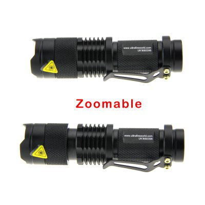 Ultrafire UK - 68 Zooming LED FlashlightLED Flashlights<br>Ultrafire UK - 68 Zooming LED Flashlight<br><br>Brand: Ultrafire<br>Model: UK-68<br>Lamp Beads: Cree Q5<br>Beads Number: 1<br>Lumens Range: 200-500Lumens<br>Luminous Flux: 300LM<br>Circuitry: 800mA<br>Switch Type: Clicky<br>Switch Location: Tail Cap<br>Feature: Pocket Clip<br>Function: Camping,Hiking,Walking,Night Riding,Household Use,EDC<br>Battery Type: AA,14500<br>Battery Quantity: 1 x 14500 / AA battery (not included)<br>Mode: 3 (High &gt; Low &gt; Strobe)<br>Zooming: Yes<br>Waterproof Standard: IPX-4 Standard Water-resistant<br>LED Lifespan: 50000h<br>Power Source: Battery<br>Working Voltage: 1.2 - 4.2V<br>Reflector: No<br>Lens: Resin Convex Lens<br>Impact Resistance: 1M<br>Beam Distance: 50-100m<br>Flashlight Processing Technology: Aerospace Grade Aluminum Body with Anti Scratching Type 2 Hard Anodization<br>Body Material: Aluminium Alloy<br>Available Light Color: White<br>Available color: Black<br>High Mode: 1 hr<br>Mid Mode: 1.5 hrs<br>Low Mode: 2.5 hrs<br>Strobe Mode: 1.2 hrs<br>Product weight: 0.055 kg<br>Package weight: 0.1 kg<br>Product size (L x W x H): 9.3 x 2.6 x 2.6 cm / 3.65 x 1.02 x 1.02 inches<br>Package size (L x W x H): 10.5 x 3.6 x 3.6 cm / 4.13 x 1.41 x 1.41 inches<br>Package Contents: 1 x Ultrafire Zooming Flashlight