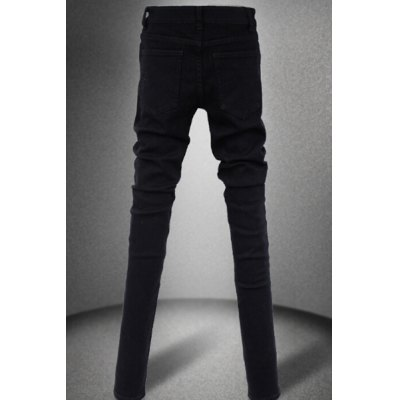 Nightclub Narrow Feet Double Zipper Bleach Wash Slimming Mens Zipper Fly Black JeansMens Pants<br>Nightclub Narrow Feet Double Zipper Bleach Wash Slimming Mens Zipper Fly Black Jeans<br><br>Material: Jeans, Cotton<br>Pant Length: Long Pants<br>Wash: Medium<br>Fit Type: Regular<br>Waist Type: Low<br>Closure Type: Zipper Fly<br>Weight: 0.599KG<br>Pant Style: Pencil Pants<br>Package Contents: 1 x Jeans