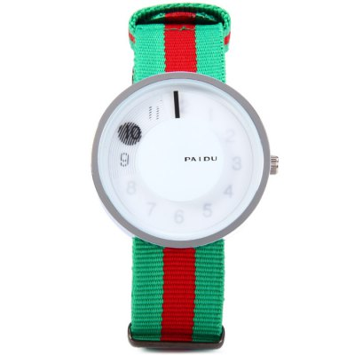 Paidu Male Quartz Watch with Rotational Scale Canvas Strap
