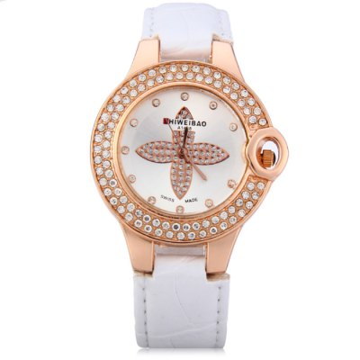 Shiweibao A1468 Female Diamond Quartz Watch with Leather Band - ShiweibaoWomens Watches<br>Shiweibao A1468 Female Diamond Quartz Watch with Leather Band<br><br>Brand: Shiweibao<br>Watches categories: Female table<br>Available color: White, Brown, White and Black, Gold and Black<br>Style : Diamond, Fashion&amp;Casual<br>Movement type: Quartz watch<br>Shape of the dial: Round<br>Display type: Analog<br>Case material: Stainless steel<br>Band material: Leather<br>Clasp type: Pin buckle<br>The dial thickness: 0.6 cm / 0.24 inches<br>The dial diameter: 3.5 cm / 1.38 inches<br>The band width: 1.5 cm / 0.59 inches<br>Wearable length: 16.5 - 20.5 cm / 6.50 - 8.07 inches<br>Product weight: 0.038 kg<br>Package weight: 0.088 kg<br>Product size (L x W x H) : 24.2 x 3.5 x 0.6 cm / 9.51 x 1.38 x 0.24 inches<br>Package size (L x W x H): 25.2 x 4.5 x 1.6 cm / 9.90 x 1.77 x 0.63 inches<br>Package contents: 1 x Shiweibao A1468 Watch