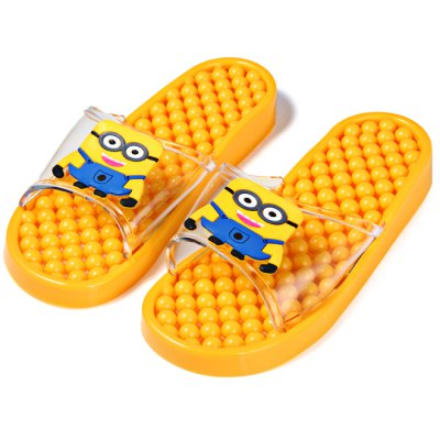Гаджет   1 Pair Minions Design Foot Massage Slippers Bathroom Summer Supplies