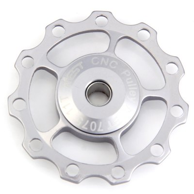 AEST Bicycle Rear Derailleur PulleyBike Parts<br>AEST Bicycle Rear Derailleur Pulley<br><br>For: Unisex<br>Type: Other Accessories<br>Material: Aluminum alloy<br>Suitable for : Road Bike, Bike, Mountain Bicycle<br>Color: Black, Red, Blue, Gold, Silver<br> Product weight : 0.010 kg<br>Package weight : 0.043 kg<br>Product size (L x W x H)   : 4.2 x 4.2 x 0.9 cm / 1.65 x 1.65 x 0.35 inches<br>Package size (L x W x H)  : 9.0 x 7.0 x 2.0 cm / 3.54 x 2.75 x 0.79 inches<br>Package Contents: 1 x AEST Bicycle Four-axis 11T Rear Derailleur Pulley, 1 x Small Metal Tube