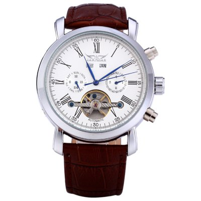 Гаджет   Jaragar A540 Male Tourbillon Automatic Mechanical Watch with Genuine Leather Band Men