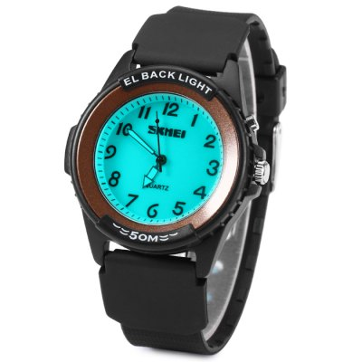 ФОТО Skmei 0887 Luminous Men Quartz Watch Water Resistance Rubber Band