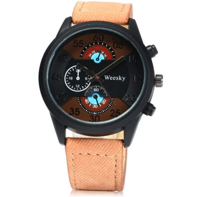 Гаджет   Weesky 1204G Men Quartz Watch with Denim Band Men
