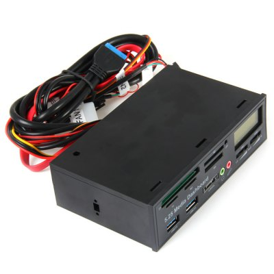 525F All in One Media Dashboard Card ReaderMemory Cards<br>525F All in One Media Dashboard Card Reader<br><br>Model: 525F<br>Interface: USB3.0<br>Reader Type: All in One<br>Supported Memory Cards: Micro SD, SD, TF, M2, MS Duo/MS<br>Compatible: Windows Vista, Windows XP, Windows 8, Windows 7, MAC OS, Windows ME, Windows 2000<br>Optional Color: Black<br>Product Weight: 0.280 kg<br>Package Weight: 0.432 kg<br>Product Size (L x W x H): 14.7 x 9.1 x 4.3 cm / 5.78 x 3.58 x 1.69 inches<br>Package Size (L x W x H): 19.8 x 16.1 x 6.6 cm / 7.78 x 6.33 x 2.59 inches<br>Package Contents: 1 x Media Dashboard Card Reader, 5 x Screw, 1 x Bilingual Manual in English and Chinese