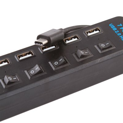 TS - 20UH02 Type-C 7 Ports USB 2.0 HubUSB Accessories<br>TS - 20UH02 Type-C 7 Ports USB 2.0 Hub<br><br>Model: TS-20UH02<br>Design: Professional<br>Feature: Hub<br>Function: Rechargeable<br>Interface: USB2.0<br>Certificate: FCC, RoHS, CE<br>Optional Color: White, Black<br>Product Weight: 0.097 kg<br>Package Weight: 0.190 kg<br>Product Size (L x W x H): 18.5 x 4 x 2.5 cm / 7.27 x 1.57 x 0.98 inches<br>Package Size (L x W x H): 26 x 20 x 3 cm / 10.22 x 7.86 x 1.18 inches<br>Package Contents: 1 x TS - 20UH02 Type-C 7 Ports USB 2.0 Hub