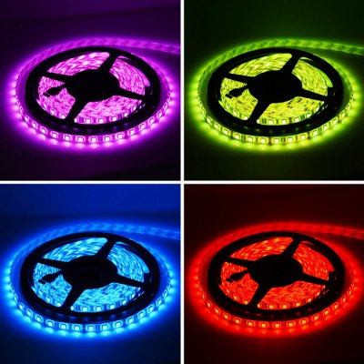 HML 5m SMD - 5050 RGB LED Tape LightLED Strips<br>HML 5m SMD - 5050 RGB LED Tape Light<br><br>Brand: HML<br>Type: LED Strip<br>Features: IP-65,Cuttable,Remote Control,Low Power Consumption,Waterproof<br>Length: 5m<br>LED type: SMD-5050<br>Chip Brand: Epistar<br>Number of LEDs: 300 x SMD 5050<br>Theoretical Lumens: 6000Lm<br>Actual Lumens: 5800Lm<br>CCT/Wavelength: 465nm,530nm,635nm<br>Optional Light Color: RGB<br>Connector type: 4PIN<br>Input Voltage: DC12<br>Material: FPC<br>Product weight: 0.220 kg<br>Package weight: 0.310 kg<br>Product size (L x W x H): 15 x 15 x 1.3 cm / 5.90 x 5.90 x 0.51 inches<br>Package size (L x W x H): 18 x 18 x 2.5 cm / 7.07 x 7.07 x 0.98 inches<br>Package Contents: 1 x HML SMD 5050 LED Strip Light, 1 x 44 Keys Remote Controller, 1 x Receiver