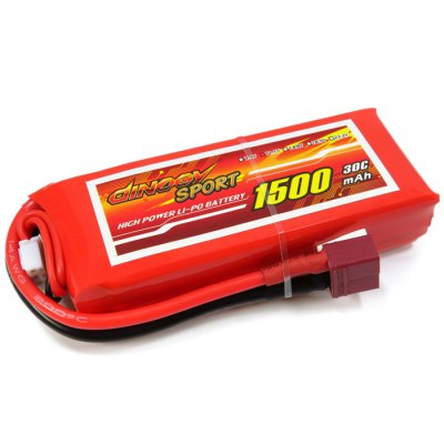 Фотография Giant Power Battery 1500mAh 11.1V / 3S 30C Fitting for RC Airplane Glider 5C Fast Charge