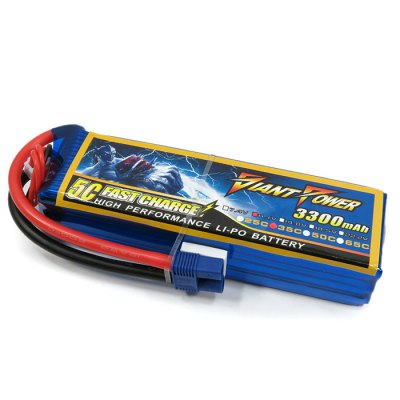 ФОТО Giant Power Battery 3300mAh 11.1V / 3S 35C Fitting for BLADE 350 QX2 QX3 RC Quadcopter