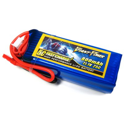 Giant Power Battery 800mAh 11.1V 25C Fitting for Big Lama RC Helicopter