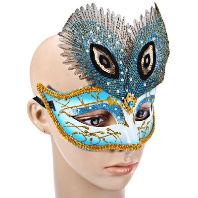 Half Face Peacock Eye Mask