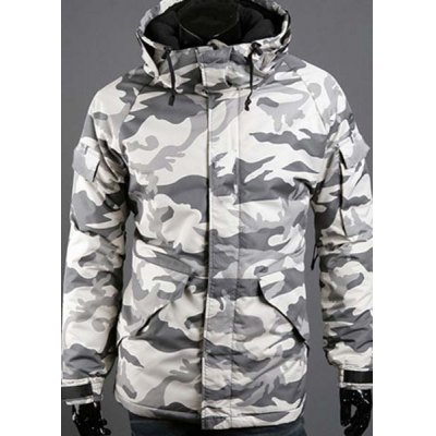 Гаджет   Modish Loose Fit Hooded Multi-Pocket Camo Pattern Long Sleeve Thicken Cotton Blend Coat For Men Jackets & Coats