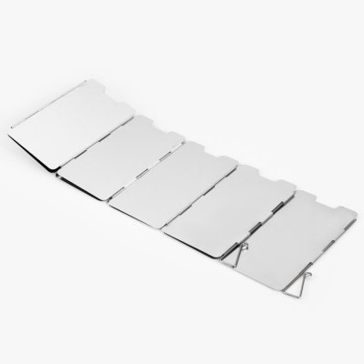 9 Plates Folding Gas Stove Wind Deflector for Picnic / Camping