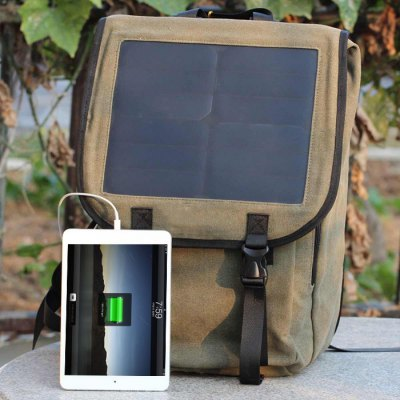 Glory Solar 23L Capacity Double Shoulders Bag with 10W Solar Panel