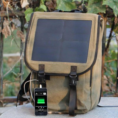 Гаджет   Glory Solar 23L Capacity Double Shoulders Bag with 10W Solar Panel Backpacks