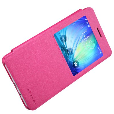 ФОТО Nillkin View Window Design Phone Protective Cover Case with PU Leather and PC Material for Samsung Galaxy A7 A700