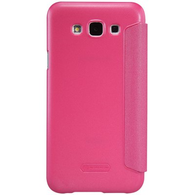 ФОТО Nillkin View Window Design Phone Protective Cover Case with PU Leather and PC Material for Samsung Galaxy E7 E700