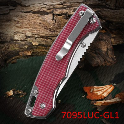Sanrenmu 7095 LUC - GL1 Foldable Knife with Line LockingPocket Knives and Folding Knives<br>Sanrenmu 7095 LUC - GL1 Foldable Knife with Line Locking<br><br>Brand: Sanrenmu<br>Type: Multitools<br>For: Adventure,Camping,Climbing,Daily Use,Hiking,Home use<br>Material: Stainless Steel<br>Blade Length: 6.8 cm / 2.68 inches<br>Blade Width : 2.3 cm / 0.91 inches<br>Unfold Length: 16.0 cm / 6.30 inches<br>Fold Length: 9.5 cm / 3.74 inches<br>Color: Cadetblue,Claret,Flaxen<br>Product weight: 0.079 kg<br>Package weight: 0.148 kg<br>Product size (L x W x H): 9.50 x 2.30 x 1.50 cm / 3.74 x 0.91 x 0.59 inches<br>Package size (L x W x H): 17.20 x 7.70 x 2.40 cm / 6.77 x 3.03 x 0.94 inches<br>Package Contents: 1 x Sanrenmu 7095 LUC - GL1 Foldable Knife