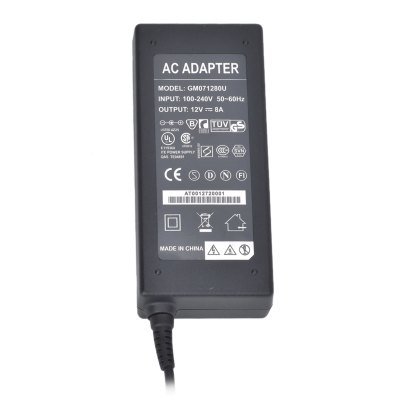 ФОТО GM071280U 12V 8A Power Supply Adapter for LED Light Lamp and Surveillance Security Camera