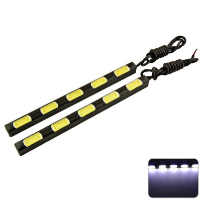 2pcs Carking 5 COB Car Daytime Running Light
