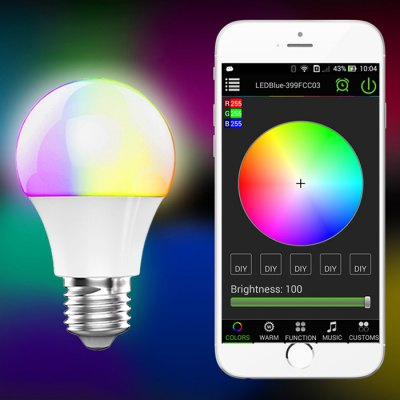 Magic Blue UU E27 Bulb Bluetooth 4.0Smart Lighting<br>Magic Blue UU E27 Bulb Bluetooth 4.0<br><br>Base Type: E27<br>Operating System: iOS 7.0 or above and Android 4.3 or above<br>Voltage: AC100-265V<br>Lumen: 350Lm<br>Color Temperature: 2800K - 3200K<br>Bluetooth Version: 4.0<br>Power: 4.5W<br>Product Weight: 0.072 kg<br>Package Weight: 0.100 kg<br>Product Size  ( L x W x H ): 6.1 x 6.1 x 10.2 cm / 2.40 x 2.40 x 4.01 inches<br>Package Size ( L x W x H ): 6.5 x 6.5 x 11.2 cm / 2.55 x 2.55 x 4.40 inches<br>Package Contents: 1 x Bulb, 1 x English User Munual