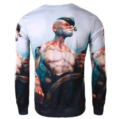 Trendy Slimming Round Neck 3D Popeye Print Long Sleeve Polyester T-Shirt For MenMens Long Sleeves Tees<br>Trendy Slimming Round Neck 3D Popeye Print Long Sleeve Polyester T-Shirt For Men<br><br>Material: Polyester<br>Sleeve Length: Full<br>Collar: Round Neck<br>Style: Fashion<br>Weight: 0.35KG<br>Package Contents: 1 x T-Shirt<br>Embellishment: 3D Print<br>Pattern Type: Print