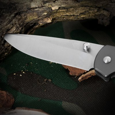 Sanrenmu 7073 LUC - SK Foldable Knife with Steel Blade Color