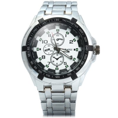Фотография Jubaoli Men Double Scales Quartz Watch with Stainless Steel Band