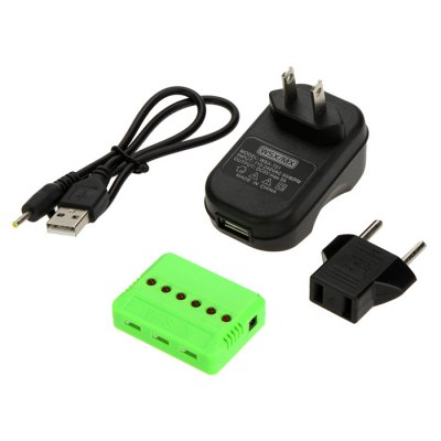 Гаджет   WSX / MX X6A - B 6 - Port Charger for WLtoys V686 G H12C 3A US Plug with EU Adapter