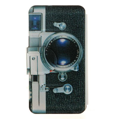 ФОТО Kinston PU Material Flip Stand Cover Case with Camera Pattern for Samsung Galaxy Note 4