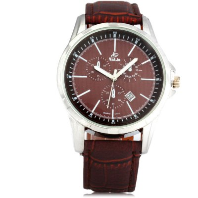 Гаджет   Valia 8191 - 1 Date Function Male Quartz Watch with Leather Band Men