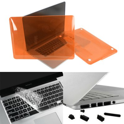 ENKAY Transparent Cover Case + Dust-proof Keyboard Film + Anti-dust Plug Set for Apple Mac Pro 13.3 inch