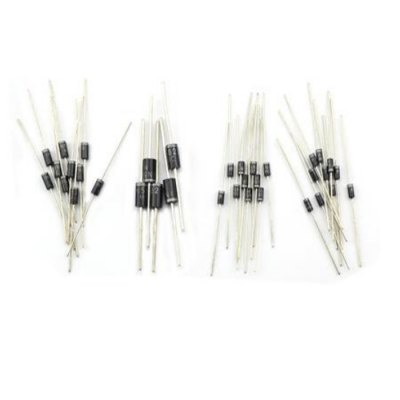 DIY Common Use Semiconductor Diode Set - 100PCSDIY Parts &amp; Components<br>DIY Common Use Semiconductor Diode Set - 100PCS<br><br>Brand: Jtron<br>Material: Plastic +iron<br>Package Contents: 100 x DIY Common Use Semiconductor Diode<br>Package Size(L x W x H): 10 x 5 x 3 cm / 3.93 x 1.97 x 1.18 inches<br>Package weight: 0.082 kg<br>Product Size(L x W x H): 5.8 x 0.5 x 0.5 cm / 2.28 x 0.20 x 0.20 inches<br>Product weight: 0.026 kg<br>Type: Diode